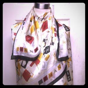 NWT AUTHENTIC CHANEL Silk monogram blanket scarf